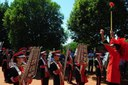 Fanfarra da escola Luiz Cláudio Josué abriu solenidade