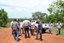 Visita se estendeu até a entrada da fazenda Criola