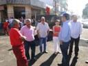 Cido Pantanal acompanha prefeito em obras na Moura Andrade
