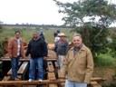 Vereadores acompanham trabalhos da reforma da ponte no Rio São Bento