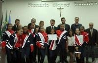 Banda Marcial de Nova Andradina completa 33 anos e é destacada na Câmara