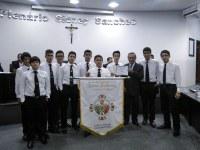 Valter homenageia jovens da Ordem Demolay de Nova Andradina
