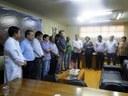 Vereadores acompanham assinatura de convênios do Fundeb