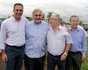 Vereadores recepcionam senador Delcídio do Amaral e Henrique Prata