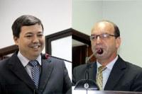Dr. Sandro e Valmirá solicitam guias para ruas já asfaltadas