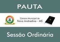 Pauta 29ª SESSÃO ORDINÁRIA-21-09-2015